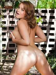 Natasha Nice is our sexy bare-breasted contessa sneaking out to a shady, private gazebo to indulge her desire for some multi-climax masturbation!