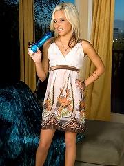 Kacey Jordan - Large Blue Dildo